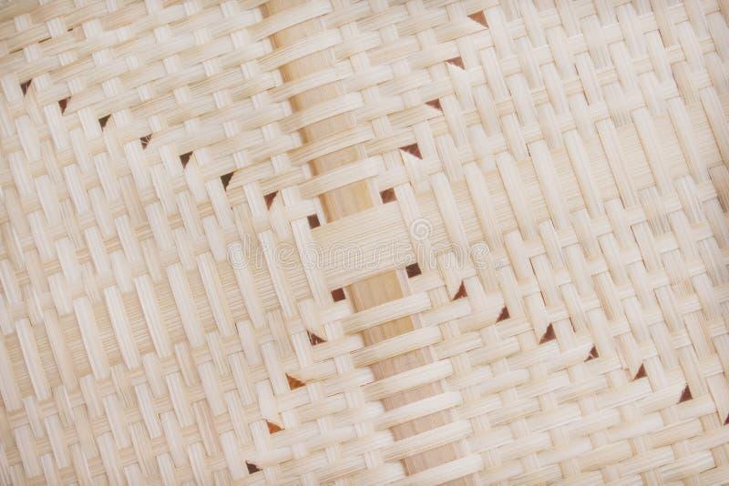 Σχέδια της σύστασης ύφανσης μπαμπού φύσης με την τρύπα για το υπόβαθρο στοκ φωτογραφία με δικαίωμα ελεύθερης χρήσης