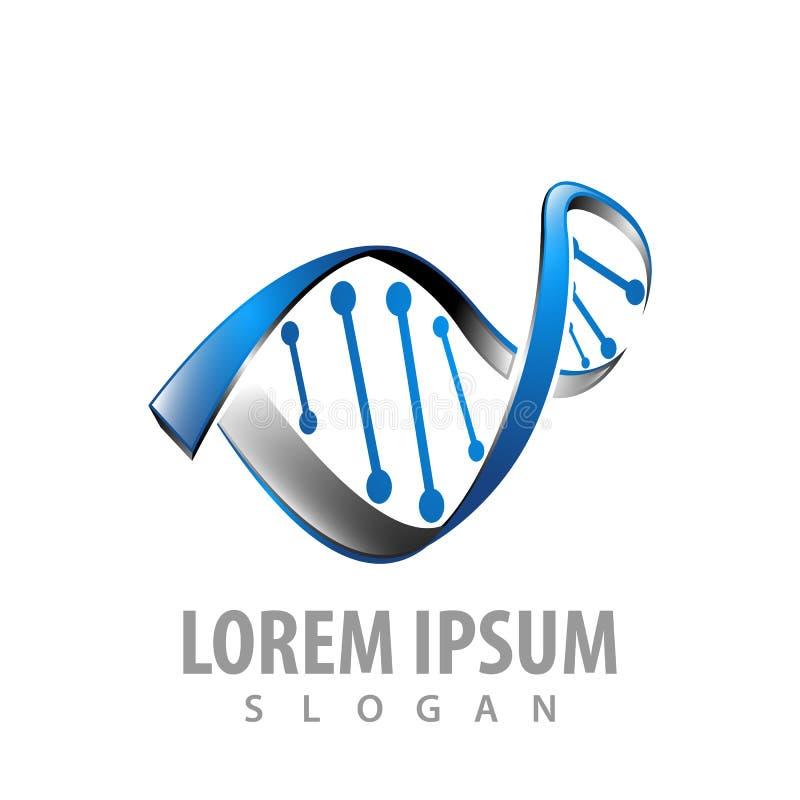 Σχέδιο έννοιας λογότυπων τρισδιάστατο γενετικό DNA Γραφικό διάνυσμα στοιχείων προτύπων συμβόλων διανυσματική απεικόνιση