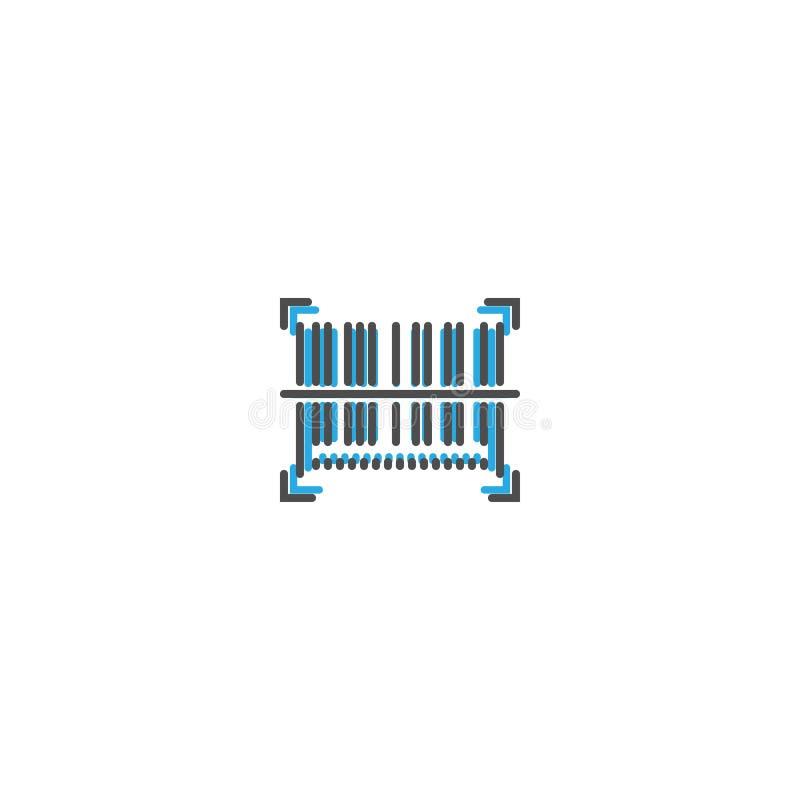 Σχέδιο γραμμών εικονιδίων γραμμωτών κωδίκων Διανυσματική απεικόνιση επιχειρησιακών εικονιδίων διανυσματική απεικόνιση