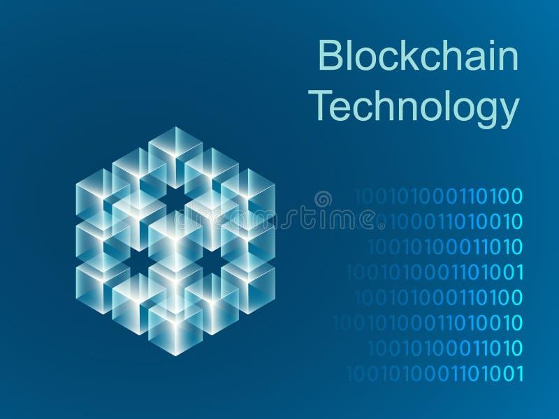 Σχέδιο εμβλημάτων ολισθαινόντων ρυθμιστών έννοιας Blockchain διανυσματική απεικόνιση