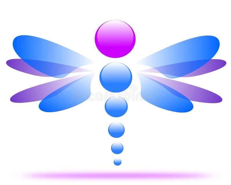 Σχέδιο ενός λογότυπου επιχείρησης λιβελλουλών διανυσματική απεικόνιση