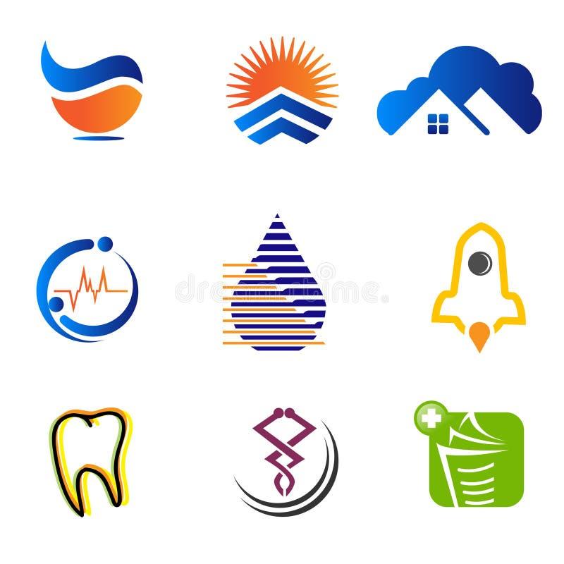 Σχέδιο επιχειρησιακών s λογότυπων επιχειρησιακών εταιρικό λογότυπων καθορισμένο απεικόνιση αποθεμάτων