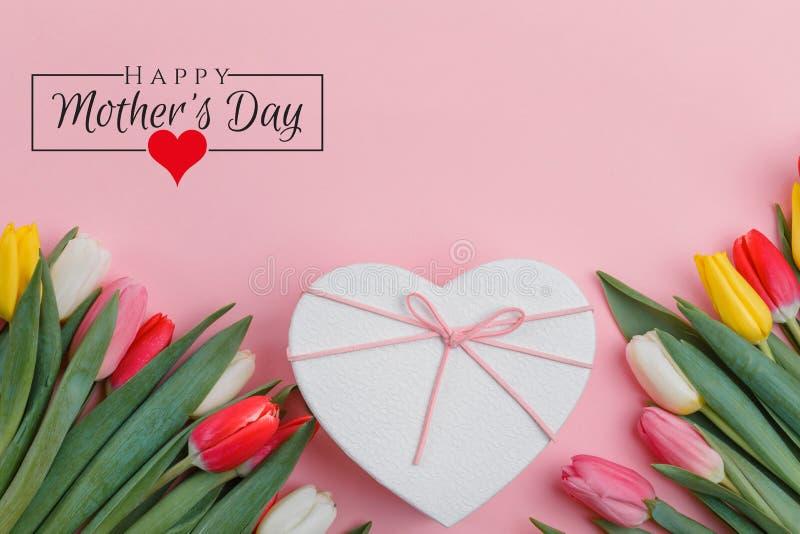Σχέδιο ημέρας των διεθνών γυναικών στις 8 Μαρτίου Λουλούδια τουλιπών στο υπόβαθρο στοκ εικόνες με δικαίωμα ελεύθερης χρήσης