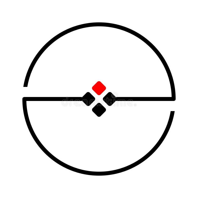 Σχέδιο λογότυπων κύκλων με το τετραγωνικό μαύρο κόκκινο σημείων ελεύθερη απεικόνιση δικαιώματος