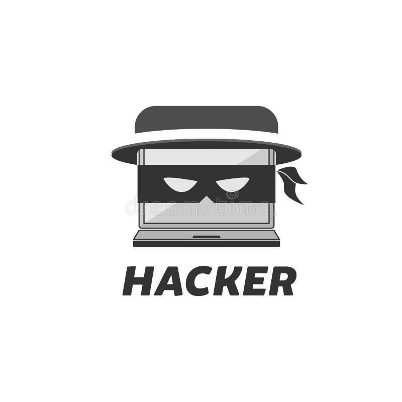 Σχέδιο λογότυπων χάκερ διανυσματική απεικόνιση