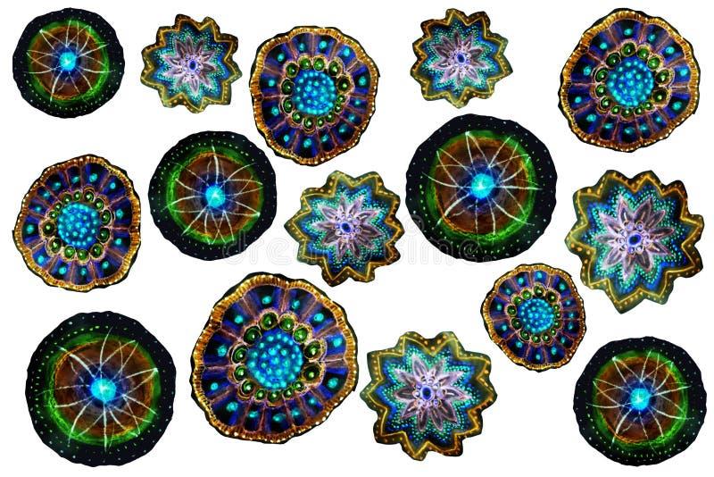 Σχέδιο μολυβιών παιδιών ` s στους floral πολύχρωμους τόνους απεικόνιση αποθεμάτων