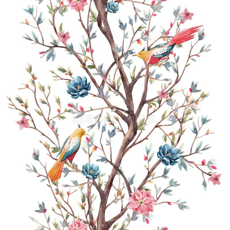 Σχέδιο δέντρων Watercolor ελεύθερη απεικόνιση δικαιώματος