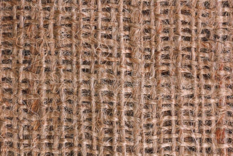 Σχέδιο της σύστασης burlap του σάκου ή sackcloth στοκ εικόνες