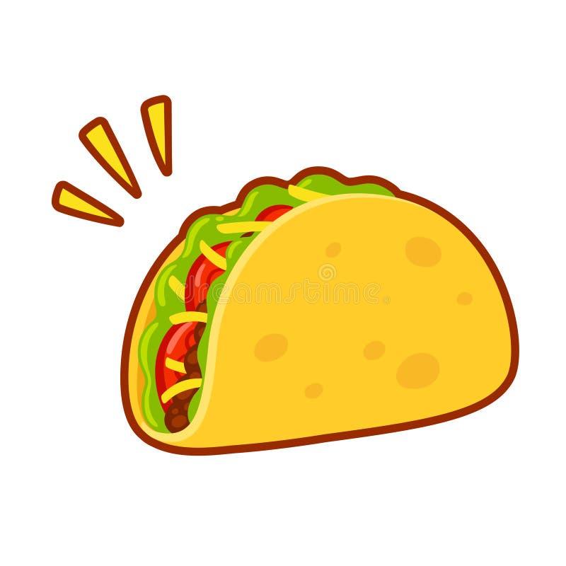 Σχέδιο taco κινούμενων σχεδίων διανυσματική απεικόνιση