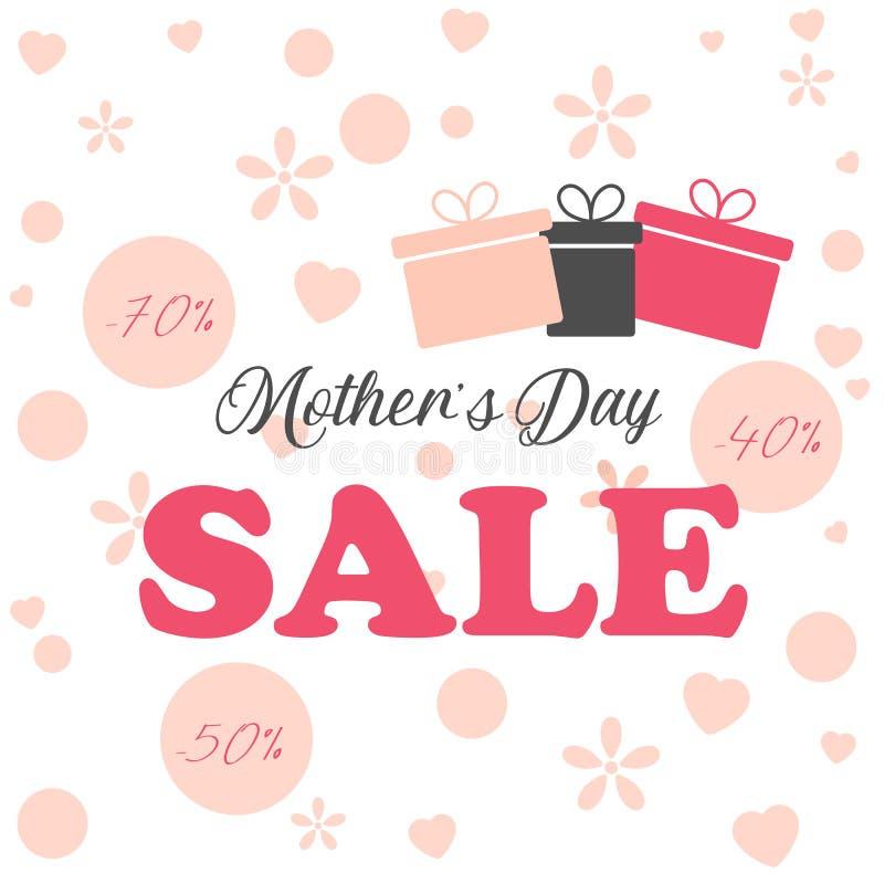 Σχεδιάγραμμα υποβάθρου πώλησης ημέρας μητέρων για τα εμβλήματα, ταπετσαρία, ιπτάμενα, πρόσκληση, αφίσες, φυλλάδιο, έκπτωση αποδεί στοκ φωτογραφία με δικαίωμα ελεύθερης χρήσης