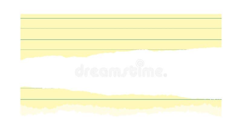 Σχισμένη σελίδα του εγγράφου σημειωματάριων που ευθυγραμμίζεται στοκ φωτογραφία με δικαίωμα ελεύθερης χρήσης