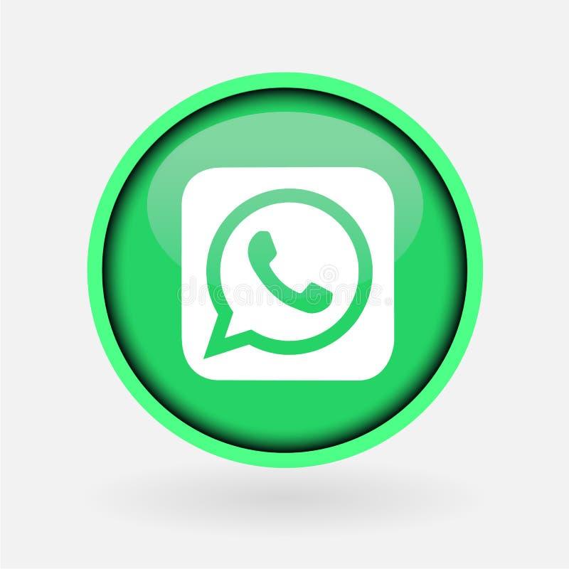 Συλλογή του δημοφιλούς κοινωνικού λογότυπου μέσων που τυπώνεται στη Λευκή Βίβλο: Whatsapp ελεύθερη απεικόνιση δικαιώματος