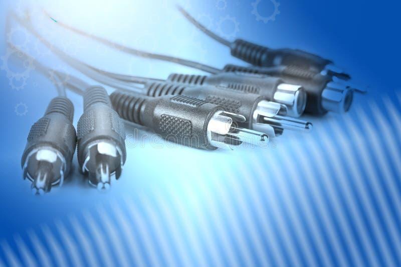Συνδετήρες καταζωστών RCA για ακουστικός και τηλεοπτικός στοκ εικόνες με δικαίωμα ελεύθερης χρήσης