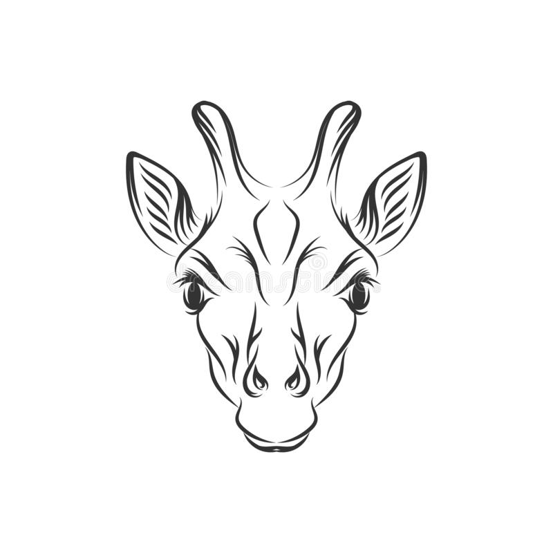 Συρμένα χέρι giraffe σχέδια απεικόνισης ελεύθερη απεικόνιση δικαιώματος