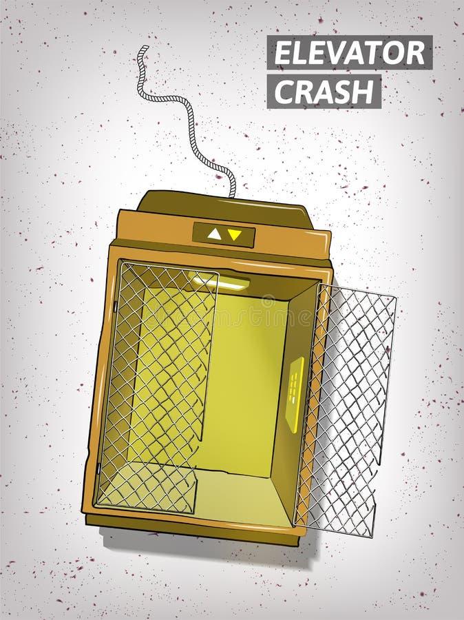 Συρμένη χέρι απεικόνιση συντριβής ανελκυστήρων απεικόνιση αποθεμάτων