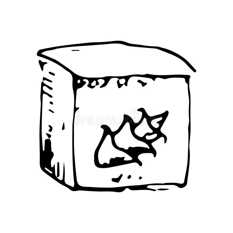 Συρμένο χέρι αλεύρι doodle Εικονίδιο ύφους σκίτσων Στοιχείο διακοσμήσεων η ανασκόπηση απομόνωσε το λευκό Επίπεδο σχέδιο επίσης co διανυσματική απεικόνιση