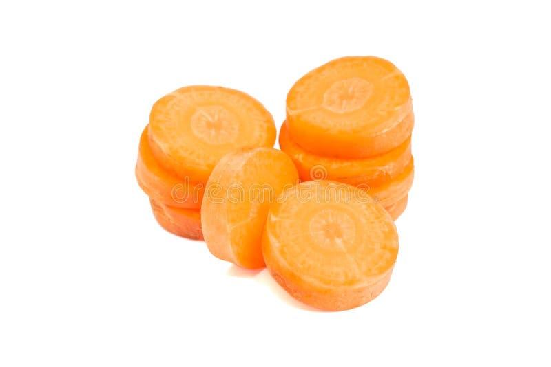 Σωροί του καρότου που απομονώνεται στοκ εικόνες