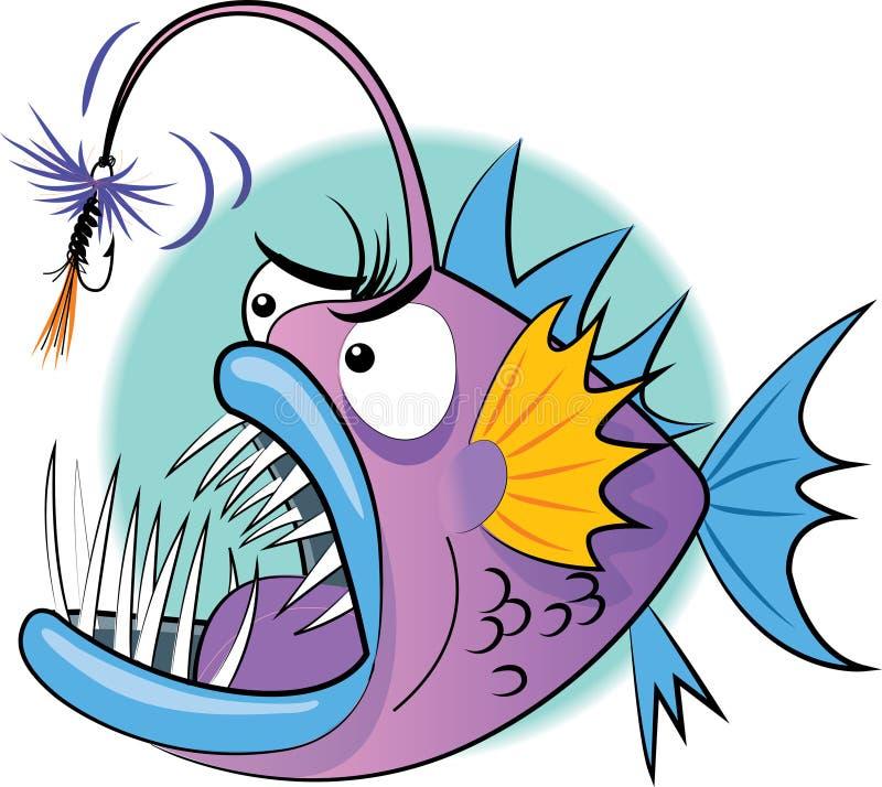 Ψάρια ψαράδων με τη δεμένη μύγα απεικόνιση αποθεμάτων