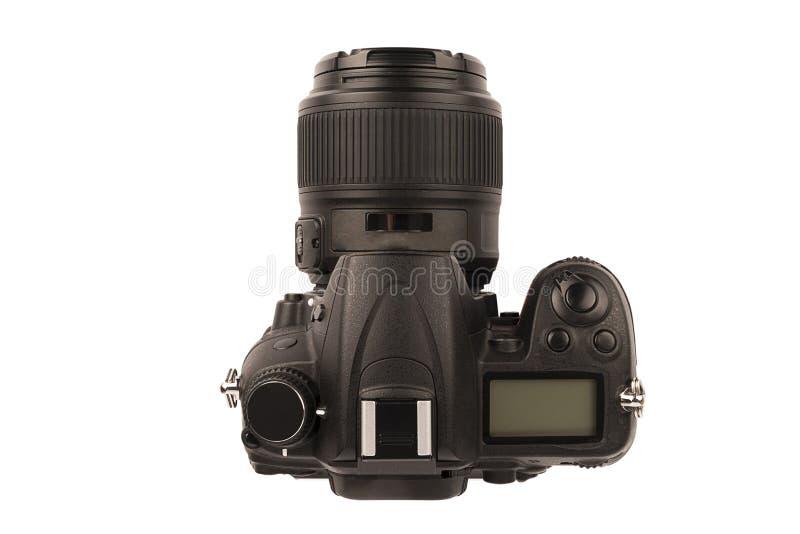 Ψηφιακή κάμερα τους επαγγελματικούς φωτογράφους, που απομονώνονται για στοκ φωτογραφίες με δικαίωμα ελεύθερης χρήσης