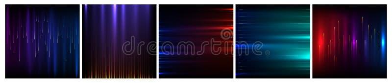 Ψηφιακή λαμπρή απεικόνιση ακτίνων έννοιας επιστήμης και τεχνολογίας ελεύθερη απεικόνιση δικαιώματος