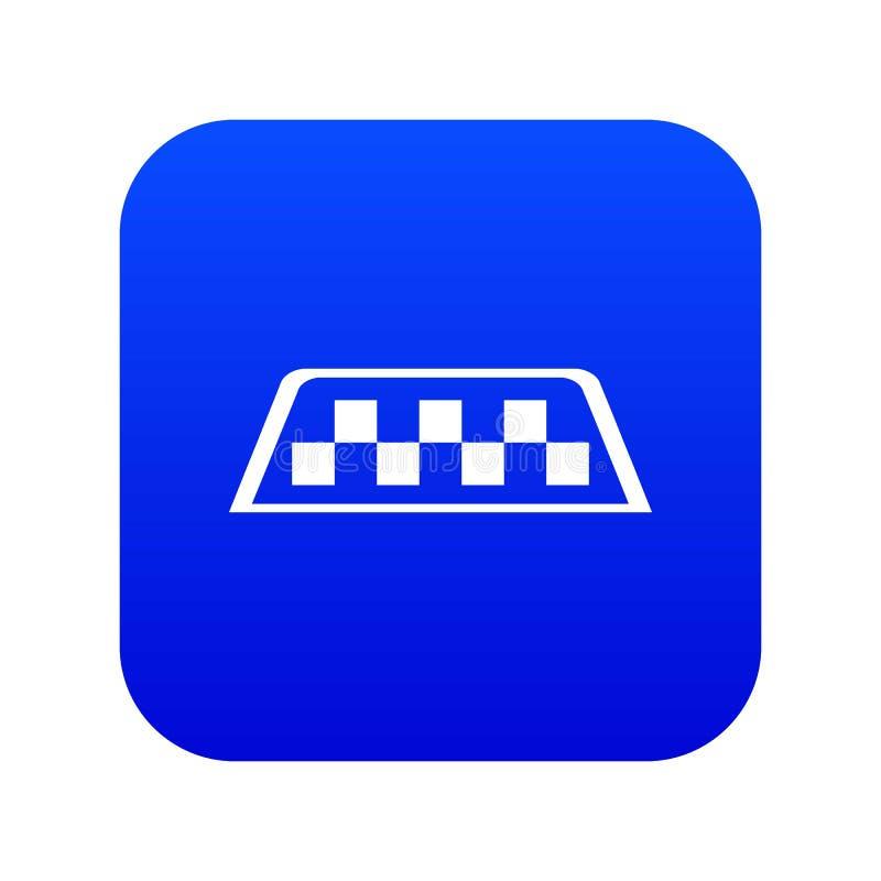 Ψηφιακό μπλε εικονιδίων ταξί ελεγκτών ελεύθερη απεικόνιση δικαιώματος