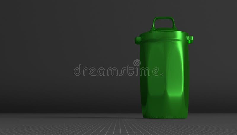 """ï"""" Groene glanzende het vuilnisbak van ¿ stock illustratie"""