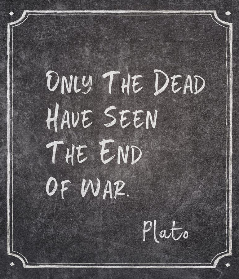 Τέλος του αποσπάσματος πολεμικού Πλάτωνα στοκ εικόνα