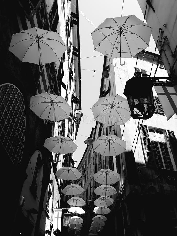 Τέχνη οδών Γένοβας σε B&W στοκ φωτογραφία με δικαίωμα ελεύθερης χρήσης