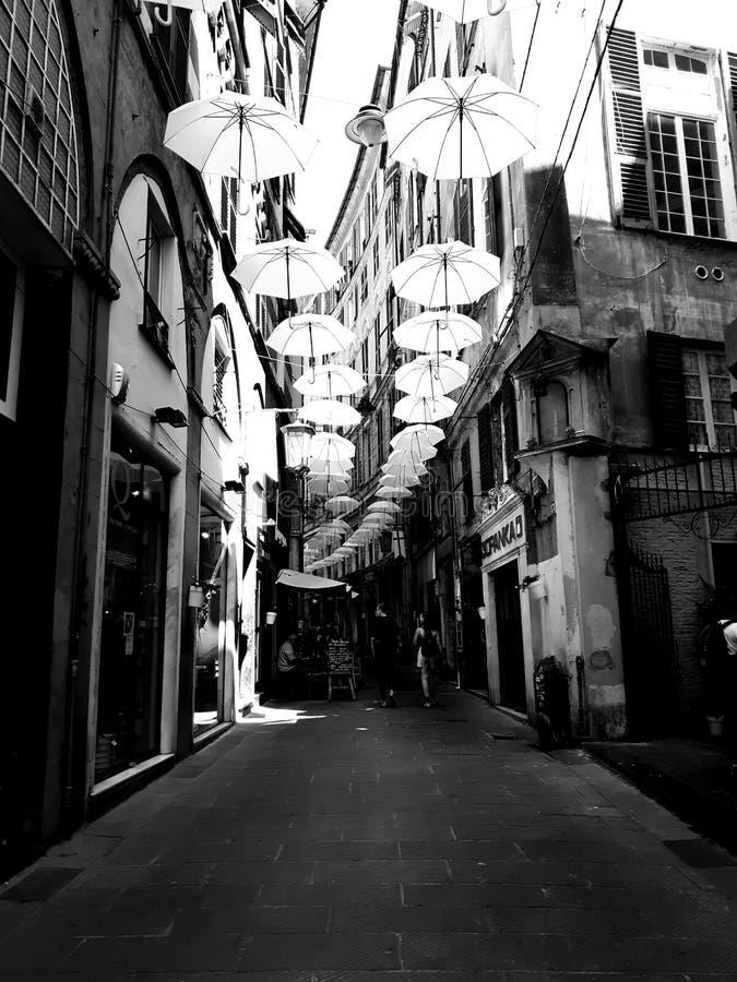 Τέχνη οδών Γένοβας σε B&W στοκ εικόνες
