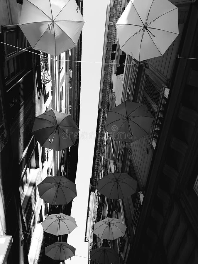 Τέχνη οδών Γένοβας σε B&W στοκ φωτογραφίες