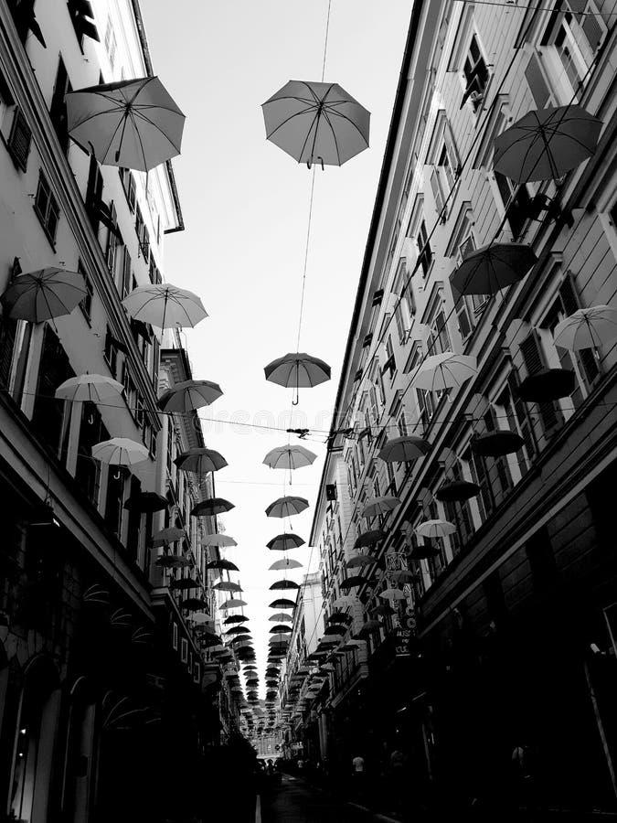 Τέχνη οδών Γένοβας σε B&W στοκ φωτογραφίες με δικαίωμα ελεύθερης χρήσης