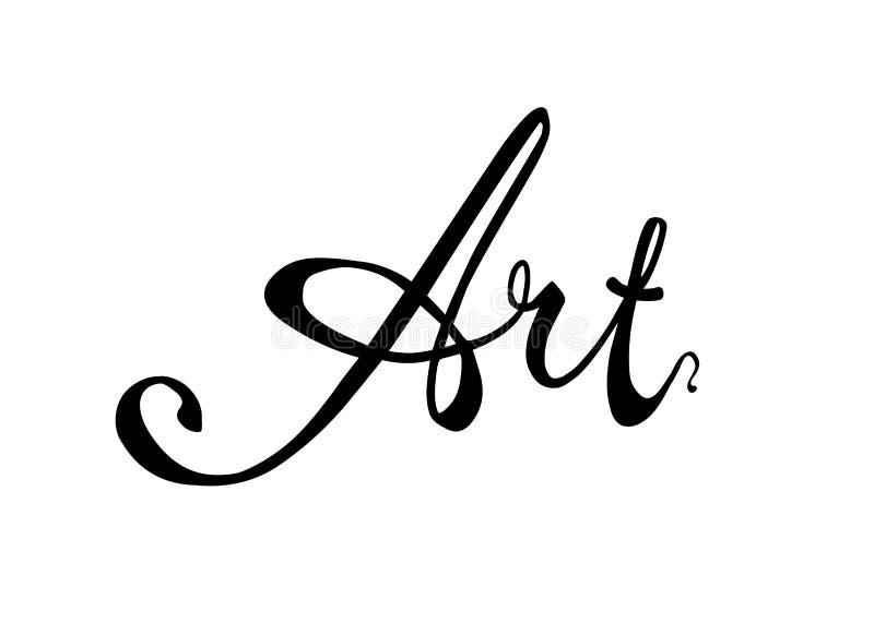 τέχνη Ο καλλιγραφικός διανυσματικός Μαύρος λέξης στο λευκό ελεύθερη απεικόνιση δικαιώματος