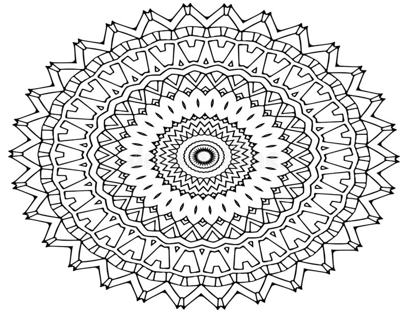 Τέχνη σχεδίων Mandala, διαμορφωμένα λουλούδια ελεύθερη απεικόνιση δικαιώματος
