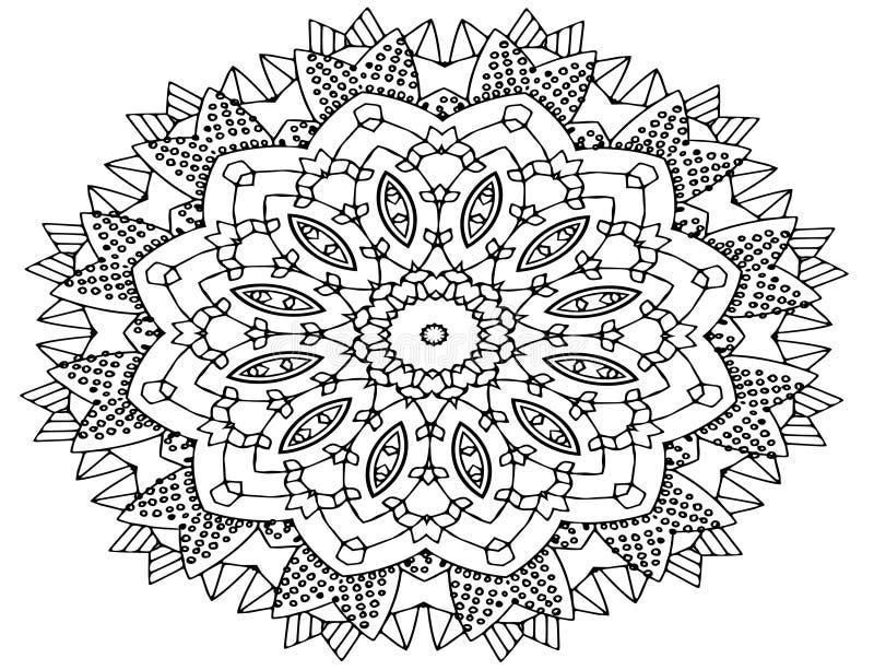 Τέχνη Mandala, διαμορφωμένα λουλούδια απεικόνιση αποθεμάτων
