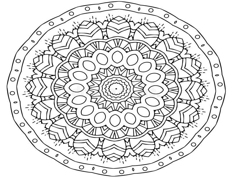 Τέχνη Mandala, διαμορφωμένα λουλούδια διανυσματική απεικόνιση