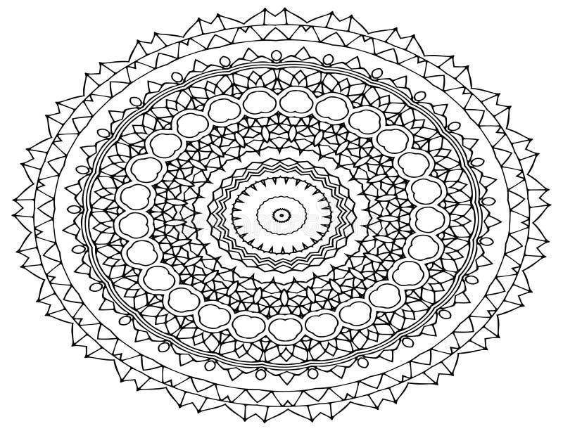 Τέχνη Mandala, διαμορφωμένα λουλούδια ελεύθερη απεικόνιση δικαιώματος