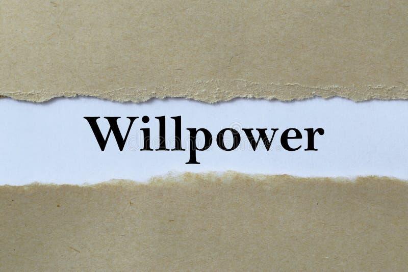 Τίτλος Willpower στοκ φωτογραφίες