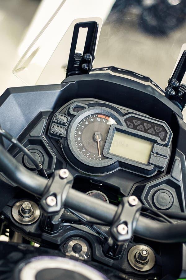 Ταμπλό του μετώπου μιας μεγάλης μοτοσικλέτας στοκ εικόνες