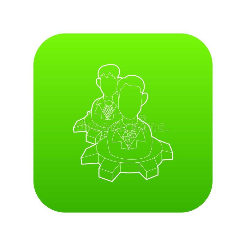 Τα άτομα μέσα στο εργαλείο κυλούν το πράσινο διάνυσμα εικονιδίων ελεύθερη απεικόνιση δικαιώματος