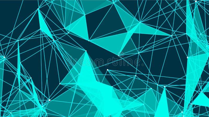 Τα αφηρημένα τρίγωνα με τις συνδέσεις είναι στο διάστημα Υπόβαθρο με τη σύνδεση των σημείων και των γραμμών επίσης corel σύρετε τ απεικόνιση αποθεμάτων