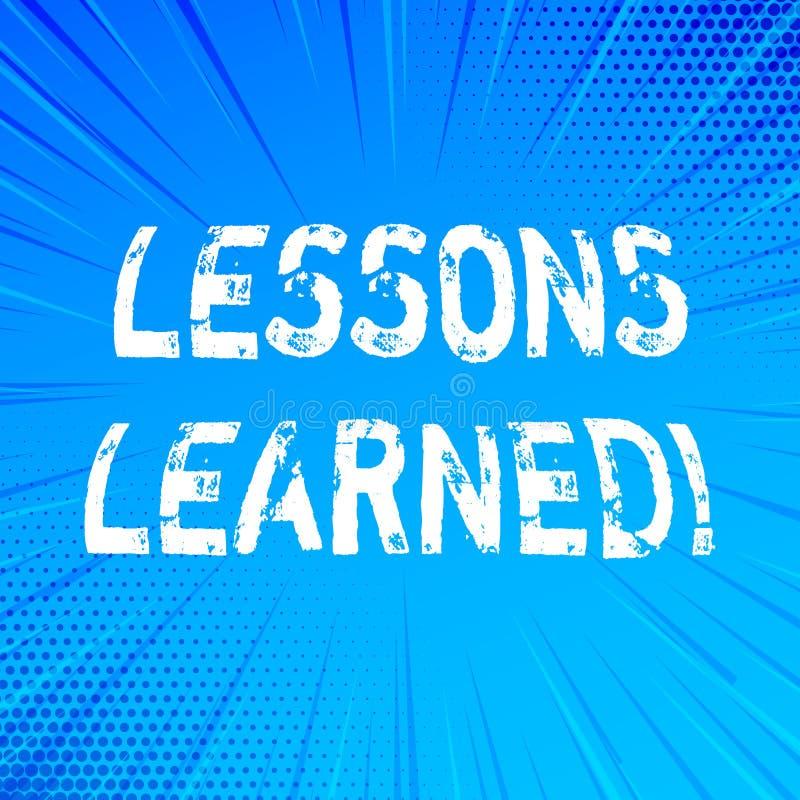 Τα παθήματα γραψίματος κειμένων γραφής που γίνονται μαθήματα Έννοια που σημαίνει την εμπειρία που πρέπει να ληφθεί υπόψη στο μέλλ ελεύθερη απεικόνιση δικαιώματος