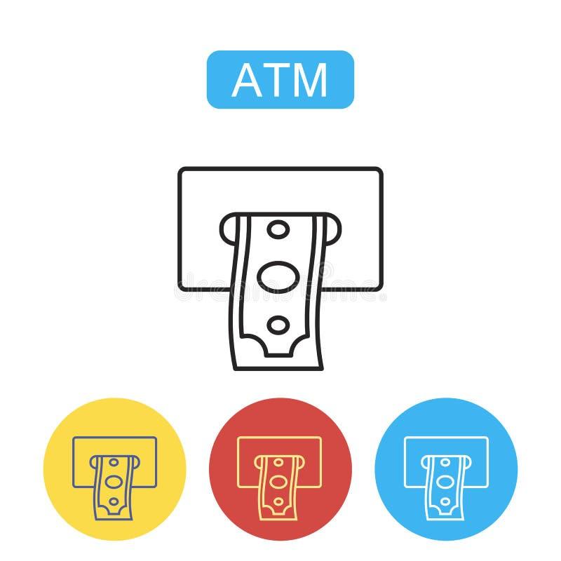 Τελικό εικονίδιο του ATM απεικόνιση αποθεμάτων