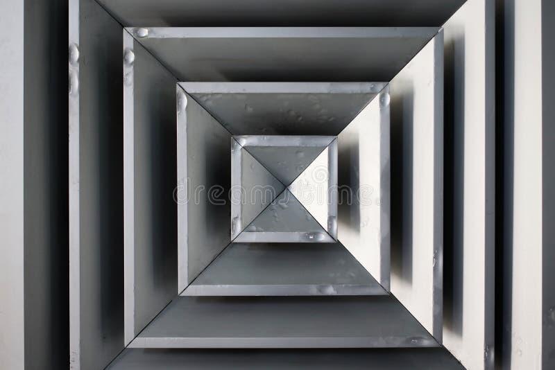 Τετραγωνική συμπύκνωση Airvent στοκ φωτογραφίες