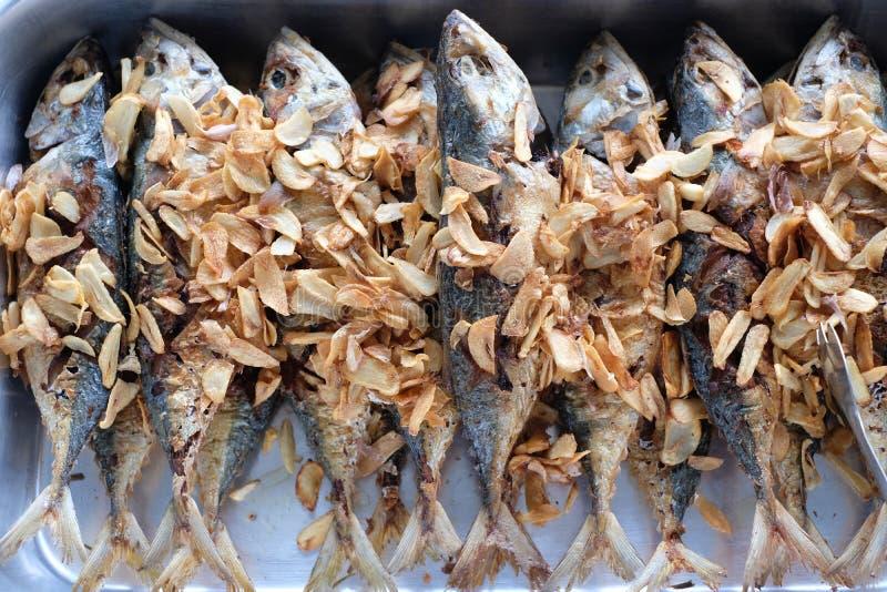 Τηγανισμένο μαγείρεμα τροφίμων ψαριών ταϊλανδικό στοκ εικόνες με δικαίωμα ελεύθερης χρήσης