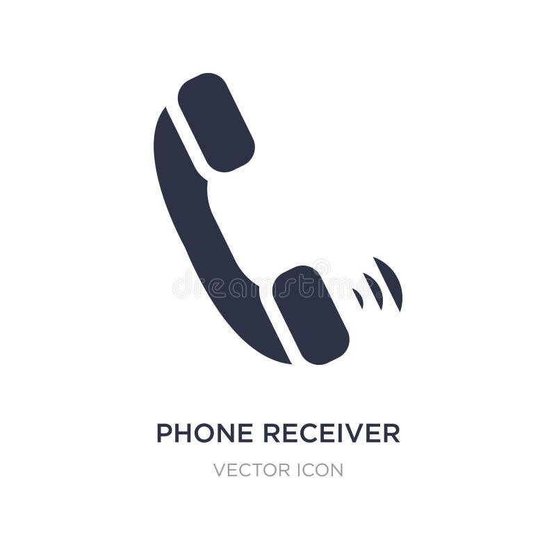 τηλεφωνικός δέκτης με το εικονίδιο στο άσπρο υπόβαθρο Απλή απεικόνιση στοιχείων από την έννοια υλικού διανυσματική απεικόνιση