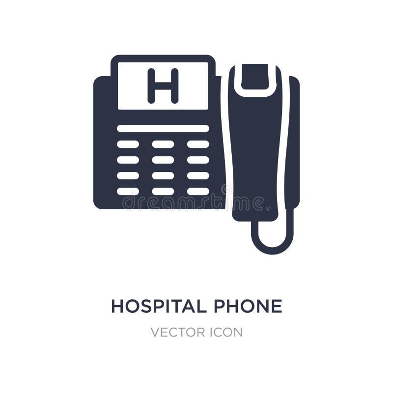 τηλεφωνικό εικονίδιο νοσοκομείων στο άσπρο υπόβαθρο Απλή απεικόνιση στοιχείων από την έννοια τεχνολογίας ελεύθερη απεικόνιση δικαιώματος