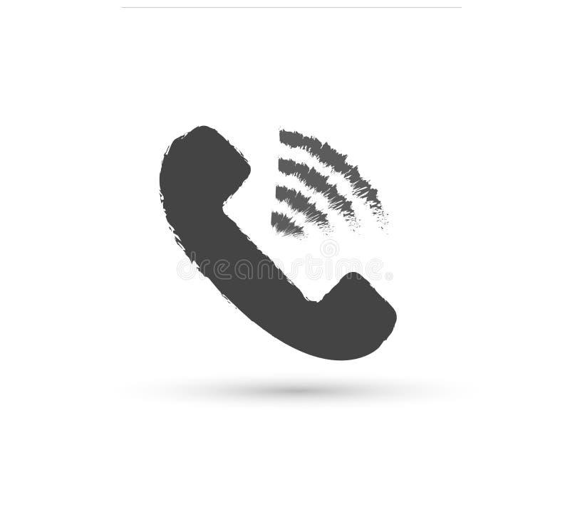 Τηλεφωνικό διανυσματικό εικονίδιο διανυσματικό επίπεδο λογότυπο ύφους Μικροτηλέφωνο με την απεικόνιση σκιών Εύκολη έκδοση της απε διανυσματική απεικόνιση