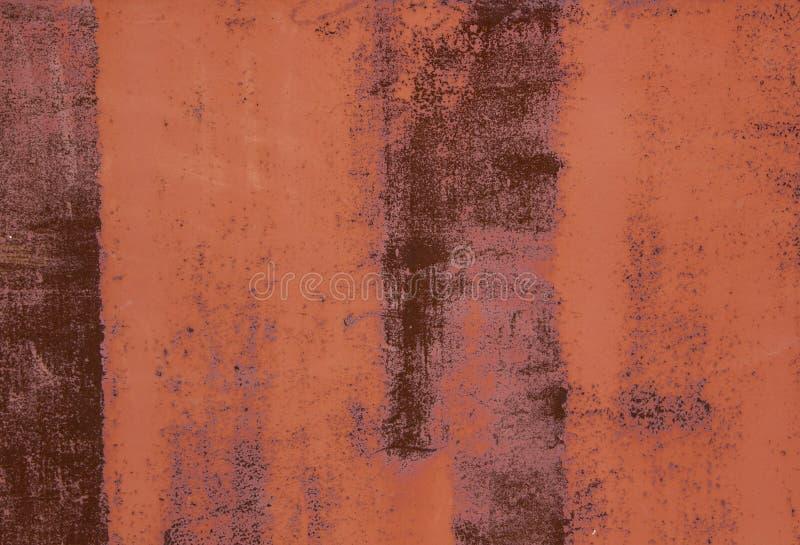 Τοίχος χρωματισμένου του μέταλλο εγχυτήρα μερικές φορές σκουριασμένου και της αποφλοίωσης στοκ εικόνα με δικαίωμα ελεύθερης χρήσης