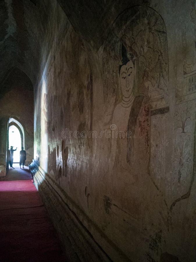 Τοιχογραφία στο sulamani paht, pugan, Myanmar στοκ εικόνες με δικαίωμα ελεύθερης χρήσης