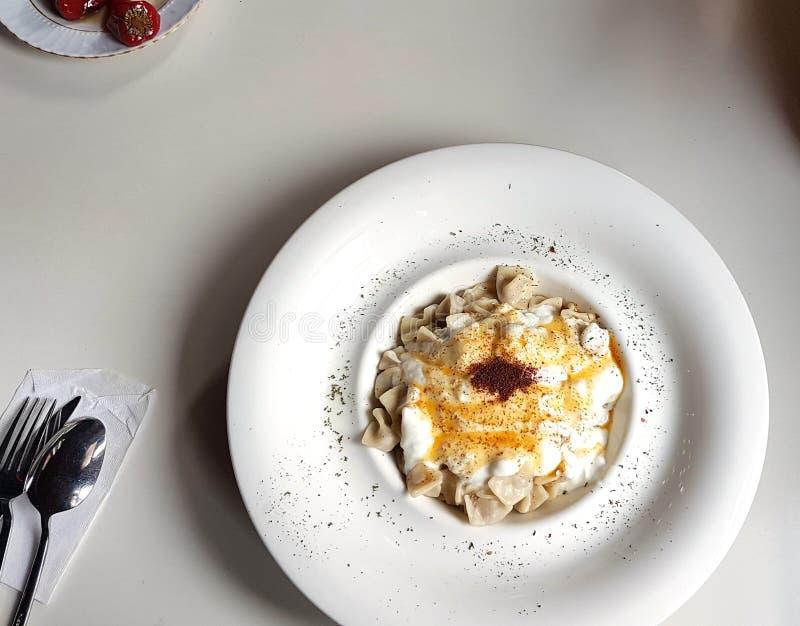 Τουρκικό τουρκικό ravioli manti στοκ φωτογραφία με δικαίωμα ελεύθερης χρήσης